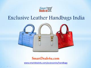 Buy leather handbags for women's at smartdeals4u.com