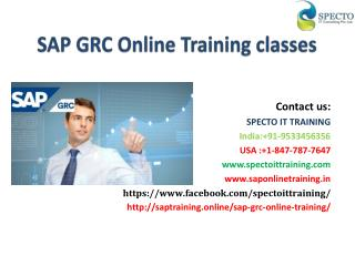 SAP GRC Online Training Classes in usa,uk