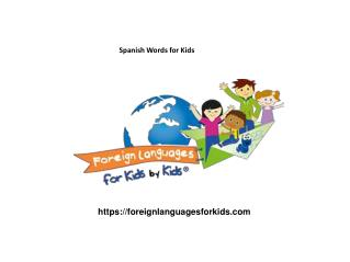 Spanish Words for Kids