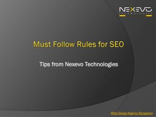 Must follow rules for seo