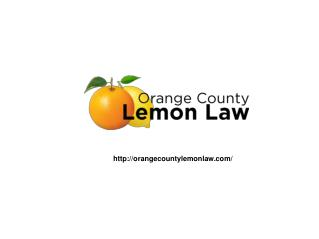 Orange County Lemon Law Attorney