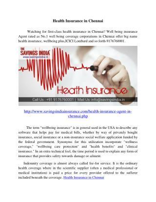 Health Insurance in Chennai