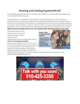 Heating and Cooling Fayetteville