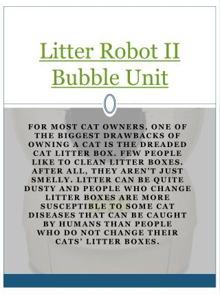 Litter Robot II Bubble Unit