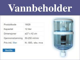 Vannbeholder - RednBlue.No