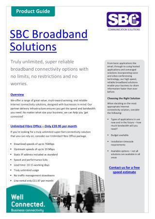 SBC Broadband Brochure