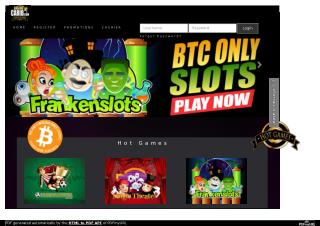 Play Bitcoin Only Online Casino Gambling and Big Jackpot Wins