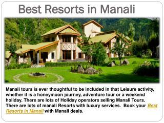 Best Resorts in Manali - ManaliDeals