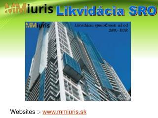 Podnikanie- Likvidácia SRO a Kúpim SRO