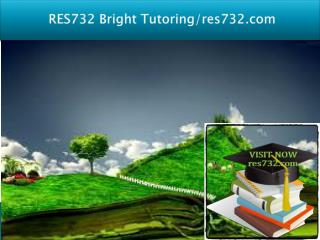 RES 732 Bright Tutoring/res732.com