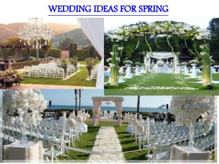WEDDING IDEAS FOR SPRING