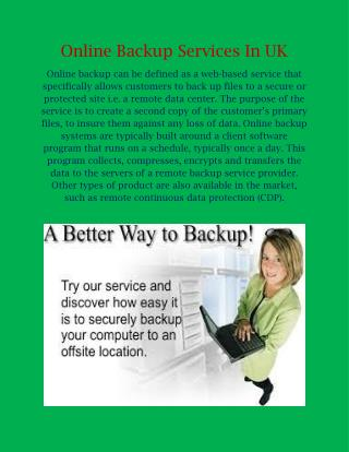 Online Backup Services In Uk