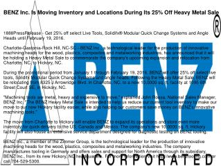 BENZ Inc. Is Moving Inventory and Locations During Its 25% Off Heavy Metal Sale