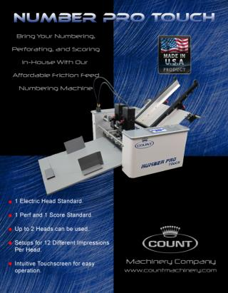 Number Pro Touch by Count Machinery - Printfinish.com