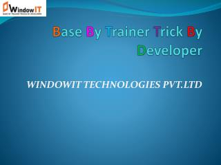 Windowit | Software Testing Training in Chandigarh