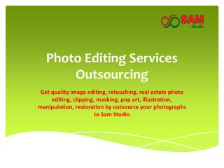 Photo Editing Outsourcing