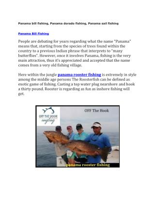 Panama bill fishing, Panama dorado fishing