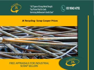 JK Recycling- Scrap Cooper Prices
