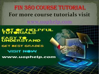FIN 380 Academic Coach/uophelp