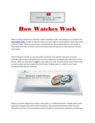 how to repair rolex watches