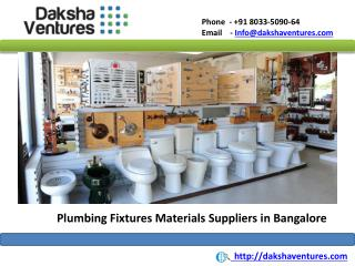 Plumbing Fixtures Materials Suppliers Bangalore