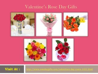 Valentine's Rose Day Gifts at Rosedaygifts.com!!