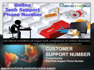 Get tech support number for Brother Printer