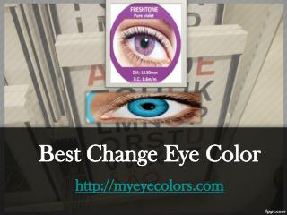 change eye color
