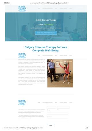 Calgary Exercise Therapy Helps Your Health Issues