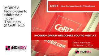 Meet iMobDev at Global Event CeBIT Hannover 2016
