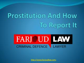 Prostitution And How To Report It