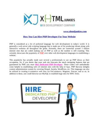 How you can Hire PHP Developer For Your Website