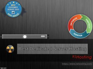 Best Dedicated Server Hosting - RS Hosting