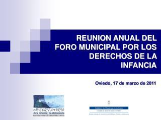 REUNION ANUAL DEL FORO MUNICIPAL POR LOS DERECHOS DE LA INFANCIA