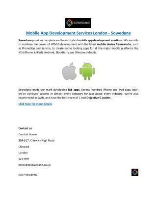 Mobile App Development Services London - Sowedane