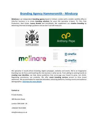 Branding Agency Hammersmith - Mindcorp