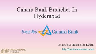MICR code for Canara Bank Branches In Hyderabad