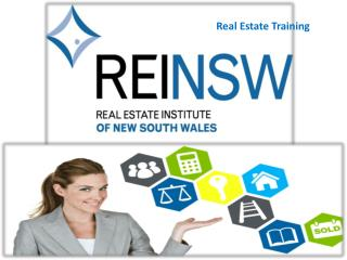 REAL ESTATE Training � REINSW