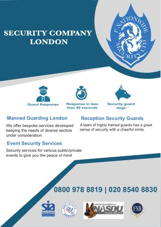 Best Security Company London UK