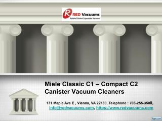 Miele Classic C1 – Compact C2 Canister Vacuum Cleaners