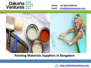 Painting Materials Suppliers Bangalore, India