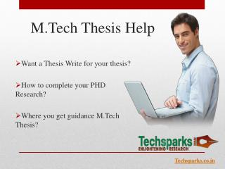 M.Tech Thesis Help Online