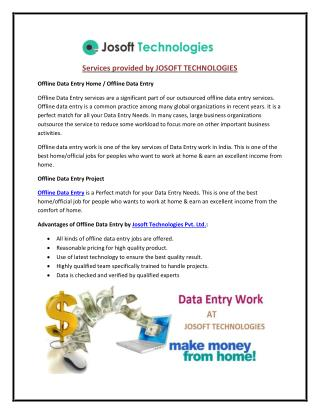 Get Offline Data Entry Work and Earn Money at Home