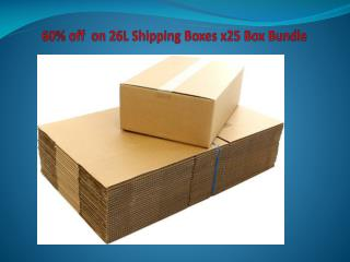 60% off  on 26L Shipping Boxes x25 Box Bundle