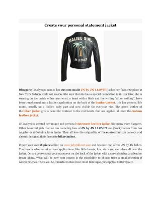 Create your personal statement jacket