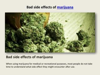 bad side effects of marijuana
