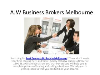 Best Business Brokers in Melbourne