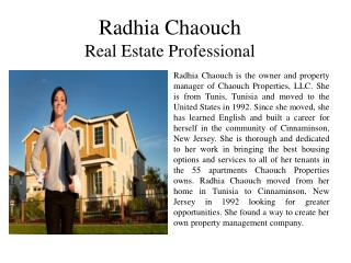 Radhia Chaouch Real Estate Professional