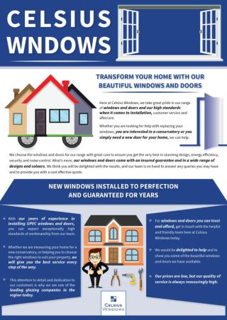 CelSiusWindows has the highly professional double glazing installers in Edinburgh!