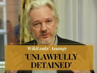 WikiLeaks' Assange 'unlawfully detained'